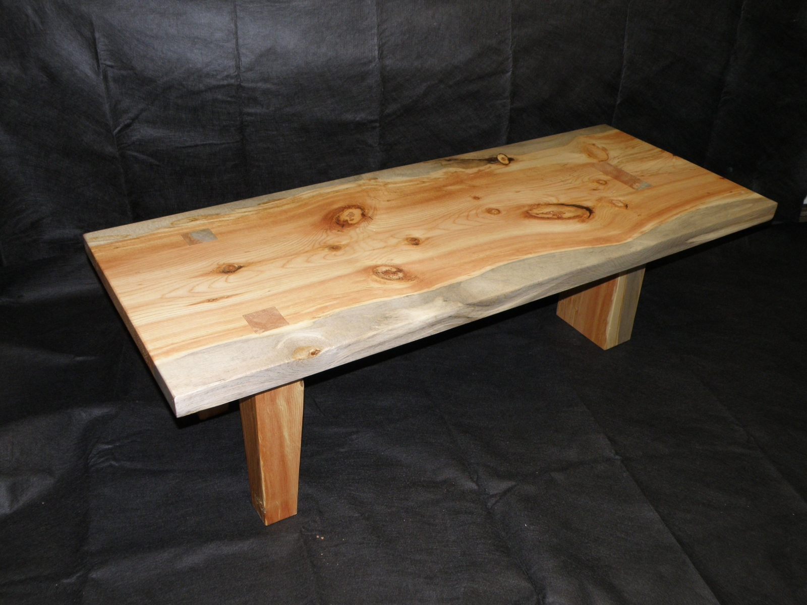 Knotty Pine Table With Clear Finish